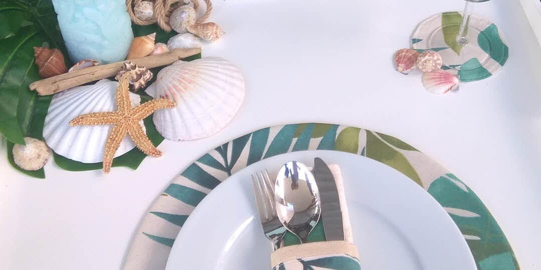 Bases de pratos e de copos